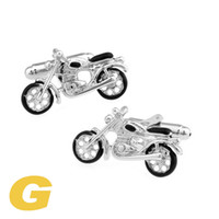 Wholesale Motorcycle Cufflinks - High Quality New Classic Silver Copper Mens Wedding Cufflinks Novelty Rare Fancy Motorcycle & Clean Cloth 171012