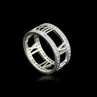 boho mode für männer großhandel-Vintage Punk Stahl Männer Ring Mode einzigartige geschnitzte Antik Silber römischen Ziffern Glück Ringe für Frauen Boho Beach Schmuck