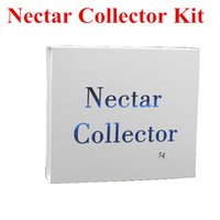 Wholesale Nectar Collector kit honey straw Glass pipe water pipes bong titanium quartz mm14mm mm joint Oil Rigs rig ash Dabs hookahs with clip