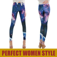 Wholesale Galaxy Leggings Price - Galaxy! GL-A22Multicolored Fancy Galaxy Leggings Space Print Pants Milk Leggings for Women Cheap Price Drop Shipping