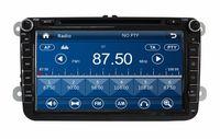 "Wholesale Vw Eos Radio - 2 din 8"" Car Radio Car DVD Player for Volkswagen VW Caddy Golf Jetta Polo Sedan Touran Passat EOS Skoda With GPS BT IPOD TV SWC USB AUX IN"