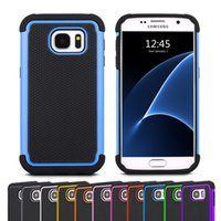 Wholesale Wholesalers Football Phone Cases - For Galaxy S7 S7 Edge Robot 3 in 1 Football Rugged Hybrid Silicone Hard Phone Case Cover for Samsung G9300 G930F