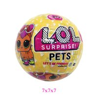 Wholesale Dress Girls Ball - 7.5CM LOL Surprise Doll Removable Packing Ball LiL Sisters Action Figures L.O.L. Surprise Dolls Set Dress Up Baby Spray Water Dolls Toy