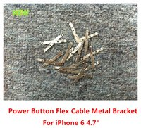 100% originale pulsante di New Power chiave Flex Cable metallo piastra posteriore staffa tastiera Parti Spacer Per iPhone 6g 4.7