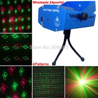 Großhandel RG Laser 4 Muster Schmetterling Gobo Projektor Party DJ Lighting Licht Disco Bar Club Dance Bühne Lichter zeigen 24pcs DHL