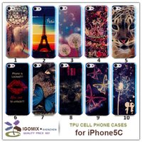 Wholesale Iphone I5c Cases - NEW TPU blue light phone case for iPhone 5C protective back cover case colorful cover for i5C