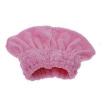 textiles de serviettes achat en gros de-Nouveau Arriver À La Maison Textile Utile Cheveux Secs Chapeau Microfibre Cheveux Turban Séchage Rapide Chapeau Cheveux Enveloppé Serviette Bonnet De Bain