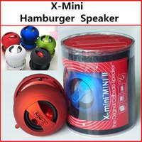 Wholesale X Mini Speaker Colors - X-Mini Capsule Speaker Mini USB Charger Mini Hamburg Mini Protable Speaker Subwoofers 5 Colors Free Shipping