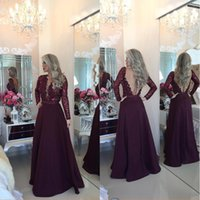 Wholesale Lining Shirt Sale - Glamorous Sheer 2017 Sequin Prom Dresses Long Sleeve Beadins Appliques V-neck Princess Floor Length Evening Gowns BA1924On Sale