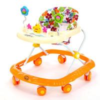 Wholesale Plastic Baby Walker - Baby Walker Anti Rollover Baby Walker with Wheels Cartoon Style Durable Baby Children Activity Adjustable Music Walkers 4 Colors JN0047