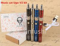 Wholesale V2 Cigs - electronic cigarettes ego vapor kit e cigs Music cat ugo-V2 kit best cool ugo-T2 vape mods kits kit