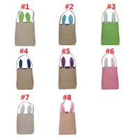 Wholesale Cheapest Gift Shop - Cheapest Easter Day Bunny Ears Tote Bags Fashion Cartoon Rabbit Ears Designer Handbags For Women Canvas Container Shopping Bags Gift