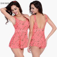 Damen Super Sexy Strap Backless One-Piece Plus Size Swimdress Bademode Bikini Bademode Push Up gepolsterte Bikini Badebekleidung VS020