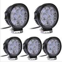 Wholesale Led Work Lamp 12v Round - LED Work Lights 12V 27W LED Work Lamp Round Square Spot Beam Flood Beam 6000K LED Flood Light For SUV Track Boating