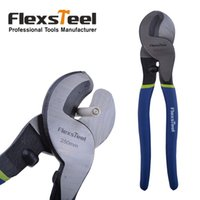 Wholesale Long Handle Cutter - Flexsteel Brand High Carbon Steel 10inch 250mm Heavy Duty Cable Cutter with Blue and Green Handle