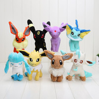 Wholesale Leafeon Glaceon Plush - pikachu plush 6.5''-7'' plush toy Glaceon Leafeon Eevee Vaporeon Flareon Espeon Jolteon Umbreon stuffed Toy doll Best gift
