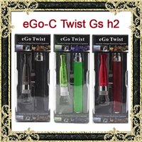 Wholesale Ego C Ecigarette Kit - EGo-C Twist Gs h2 ecigarette e Cigarette blister kit ecig eGo Twist Gs-H2 cigarettes cig Electronic Cigarette starter Kit with usb charger