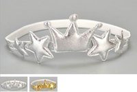 Ornements de cheveux pour bébés Or Argent Couronne Star Headbands Girl Fashion Headwear F0199