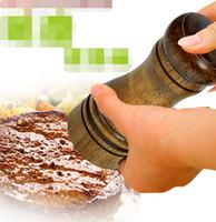 Wholesale Wood Salt Grinder - Oak grinder Pepper mill Manual pepper grinder Multi flavored bottle Kitchen tools Ceramic grinding core