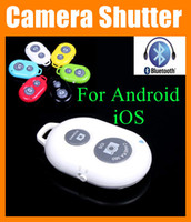 Wholesale Iphone Camera Remote Shutter - Camera Bluetooth Remote Control Shutter for Monopod Self timer Selfie Stick FOR all android ios cell phone iphone 6 5 4 ipad mini air OTH011