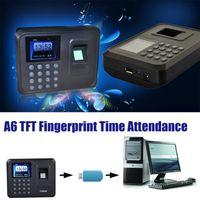 "Wholesale Fingerprint Time Clock Usb - On Sale! A6 2.4"" Color TFT Biometric Fingerprint Time Attendance USB Communication Office time Attendence Clock High quality"