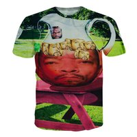 Wholesale Hip Hop Shit - w1208 Alisister women men 3d t shirt summer style tee Mr. T Ice-T With Ice Cubes T-Shit hip-hop Character t shirt camisas