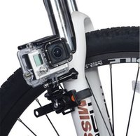 Wholesale Gopro Bicycle - Rotatable Bike Bicycle Motorcycle Quick Release Zip Tie Strap Mount Holder for Gopro Hero 4 3+ 3 2 SJCAM Xiaomi Yi Sports Camera