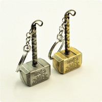 Wholesale Thor Key Ring - 2016 new fashion Keychain The Avengers Thor Odinson pendant key chains 7.5*3.5cm Zinc Alloy keychains Ring