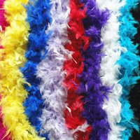 Wholesale Flapper Boa - Fluffy Feather Boas 1920'S Flapper 6ft Feather Boa Deluxe Marabou Sexy Angel Feathered Costume Accessory Chandelle Feather Boas