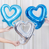 Wholesale Valentines Wedding Supplies - Love Heart 18 inches Wedding Balloons Party Decoration Foil Balloon Toys Valentines Birthday Gift Favors Festive Supplies 50pcs lot SD473