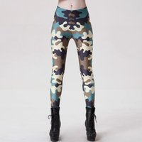 2017 NEW 9067 Шрифт CAMO Army Urban Camouflage Печатает Sexy Girl Pencil Yoga Pants GYM Fitness Workout Полиэстер Женские поножи Плюс Размер