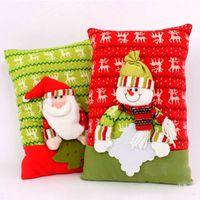 Wholesale Wholesale Kid Pillow Cases - Christmas decoration Pillow cushion Small pillow embroidery kids gifts 40*27cm Santa Claus elk high quality Pillow Case Car Decor wholesale