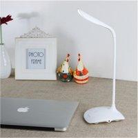 Wholesale Nickel Rechargeable Batteries - 2016 Hot Flexible LED Light Table Desk Lamp Touch Sensor Adjustable brightness USB Charge 3 leves adjustable brightness