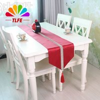 Wholesale Crochet Runners - TLFE Home & Garden Wedding Decoration Crochet Table Runner For Wedding Party Solid Embroidered Table Cover caminho de mesa ZQ042