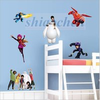 Big Hero 6 Autocollants muraux Baymax Mural Bricolage Contexte Chambre Salon Affiche TV Sofa Fond d'écran étanche Wall Stickers Home Decor A458 50