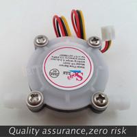 g1 sensor de flujo de agua al por mayor-Al por mayor-Nueva G1 / 4 0.3-6L / min Sensor de flujo de café de agua del interruptor del medidor de flujo de agua Sensor de flujo de agua 0.3-6L / min 0.8MPA