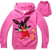 Wholesale Bunny Sweater Girls - Free shipping wholesale spring and autumn Bing Bunny cotton clothing for children boys and girls hoodies sweater 6 pcs