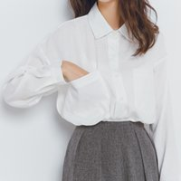 Wholesale Korean Shirt Shop - Model real shot Korean Shopping autumn new casual loose big yards simple long-sleeved shirt shirt basic models