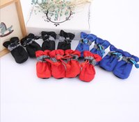 Waterproof Pet Dog Shoes Anti-slip Rain Calçado Pequenos Gatos Cães Puppy Dog Socks Booties G1080