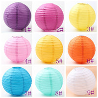 Wholesale Dancing Paper - 9colors MIC Fashion White Chinese Paper Lantern 8'' Wedding Party Home Decorations 20cm Hot sell Items