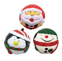 Wholesale puppets for kids - Hot 7cm Christmas Squishy Toys for Kids slow rising squishy Finger Doll Puppets Santa Claus Snow Man Jumbo Toy Christmas Gift with Package