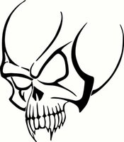 blk mirrors - Car Stickers Tribal Skull for Car Window Tattoo Vinyl Sticker Blk