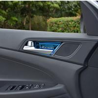 Stainless Steel Door Trim   Car Sticker Stainless Steel Interior Door  Handle Wrist Bowl Cup Trim