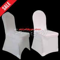 Wholesale Discount Wedding Chairs - Discount Hot Sale Universal White Wedding Banquet Folding Polyester Spandex Hotel Quality Chair Covers Wholesale