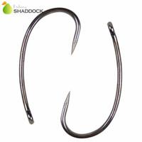 Wholesale Black Carp - 100pcs 8245 Barbless Carp Fishing Hooks Black No Barb Circle Curve Shank Carp Hair Rigs Fishing Hook Size 2 4 6 8 10
