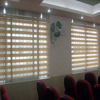 Wholesale Window Blinds Glasses - Double Layer Rainbow Blinds Zebra Blinds Zebra Shades of Window