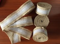 estive Party Supplies Party Supplies Event 5 mètres Natural Jute Burlap Ribbon Galons dentelle pour hessois rustique cru chemin de table de mariage ...