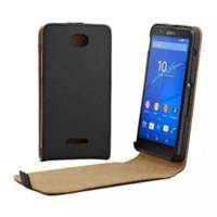 Wholesale Xperia E Leather - E 4 Vertical Flip PU Leather Case Cover for Sony Xperia E4 Phone Bag Free Shipping