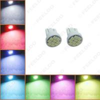 bombilla led color 194 al por mayor-venta al por mayor coche DC12V T10 194/168 10-SMD 1206 chip coche cuña LED bombilla 7 colores # 1718
