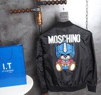 Wholesale Top Shirt Printing Machine - 2017 Top quality Italy Jackets machine bear Applique future streetwear mens designer shirts black